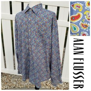 Alan Flusser Paisley long sleeve button down XL